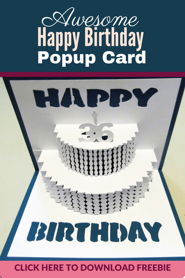 How To Fold Popup Cards Cricut Birthday Cards Pop Up Card Templates Card Making Birthday