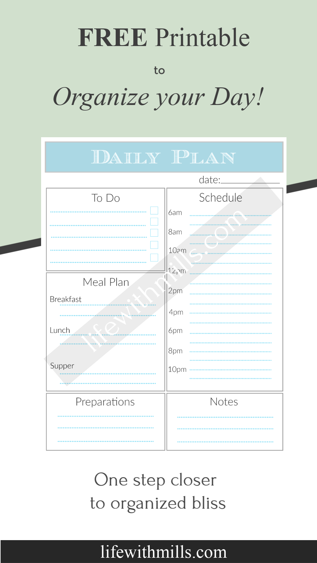 graphic relating to Free Printable Organizing Sheets referred to as Absolutely free printable day-to-day planner! Straightforward and simple in the direction of retain the services of