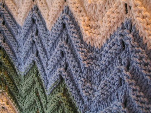 Knitted Zig Zag Afghan Pattern By Columbia Minerva Crochet