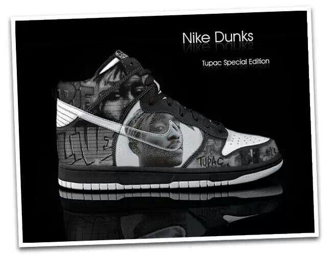 super popular e9181 ad36f Tupac Nike Dunks!!!
