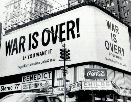 Happy Christmas John Lennon And Yoko John Lennon Yoko Ono Give Peace A Chance