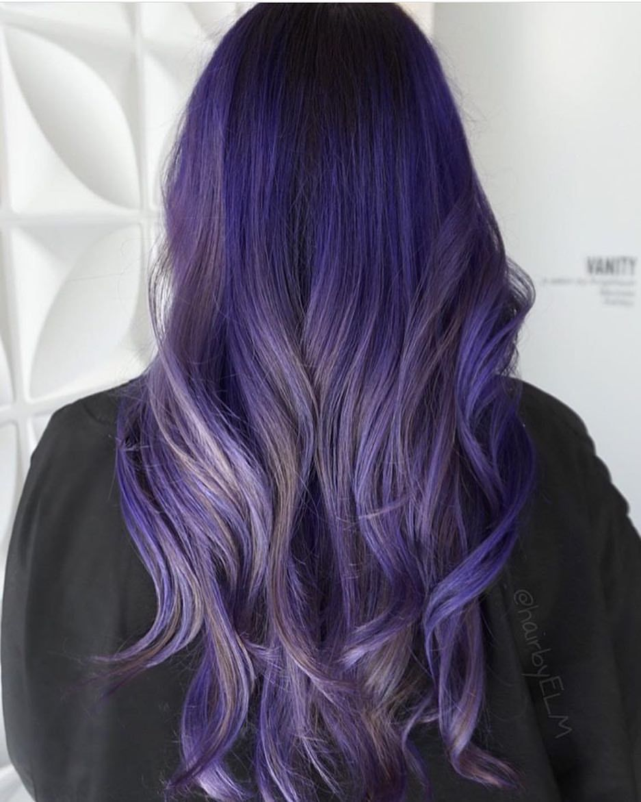 Los Angeles Hair Salon On Instagram By Butterfly Loft Stylist Hairbyelm Using Pulpriothair Color Hair Pretty Hairstyles Purple Hair