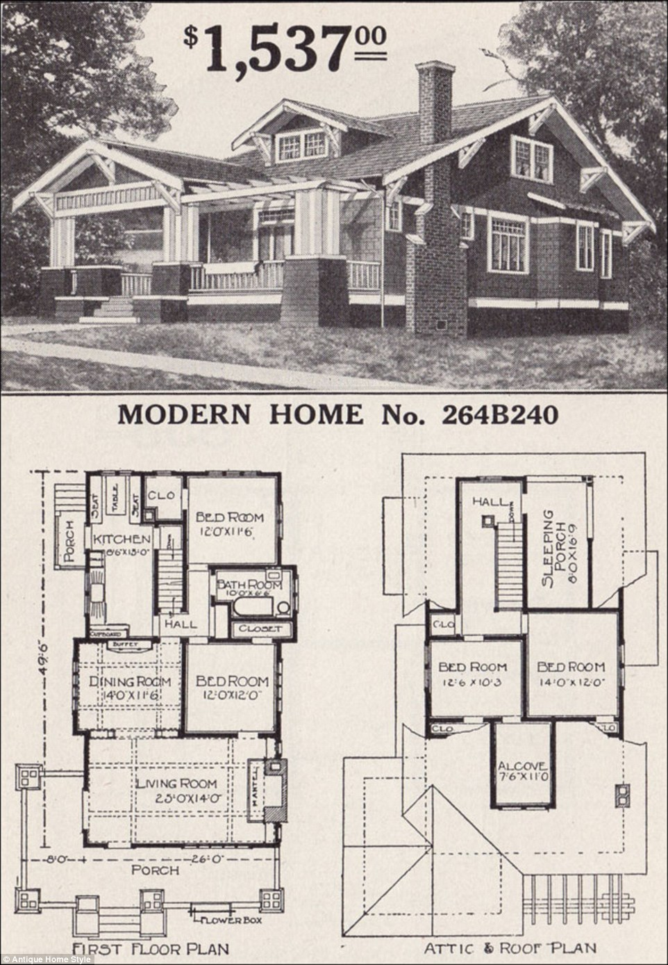 Man Restores His Grandparents 1916 Flat Pack Home From Sears Craftsman Style Homes Bungalow House Plans Craftsman House