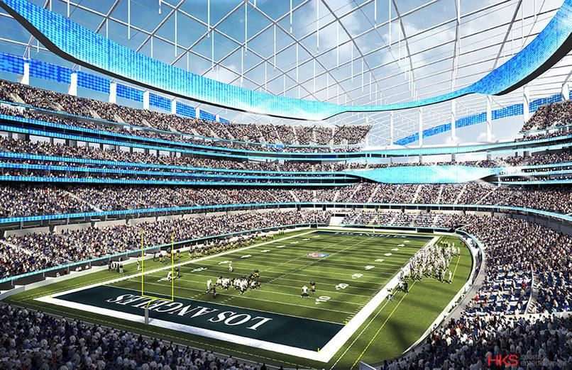 Architecture Firm Hks Set To Build Largest Nfl Stadium For L A Rams Nfl Stadiums Football Stadiums Nfl Football Stadium
