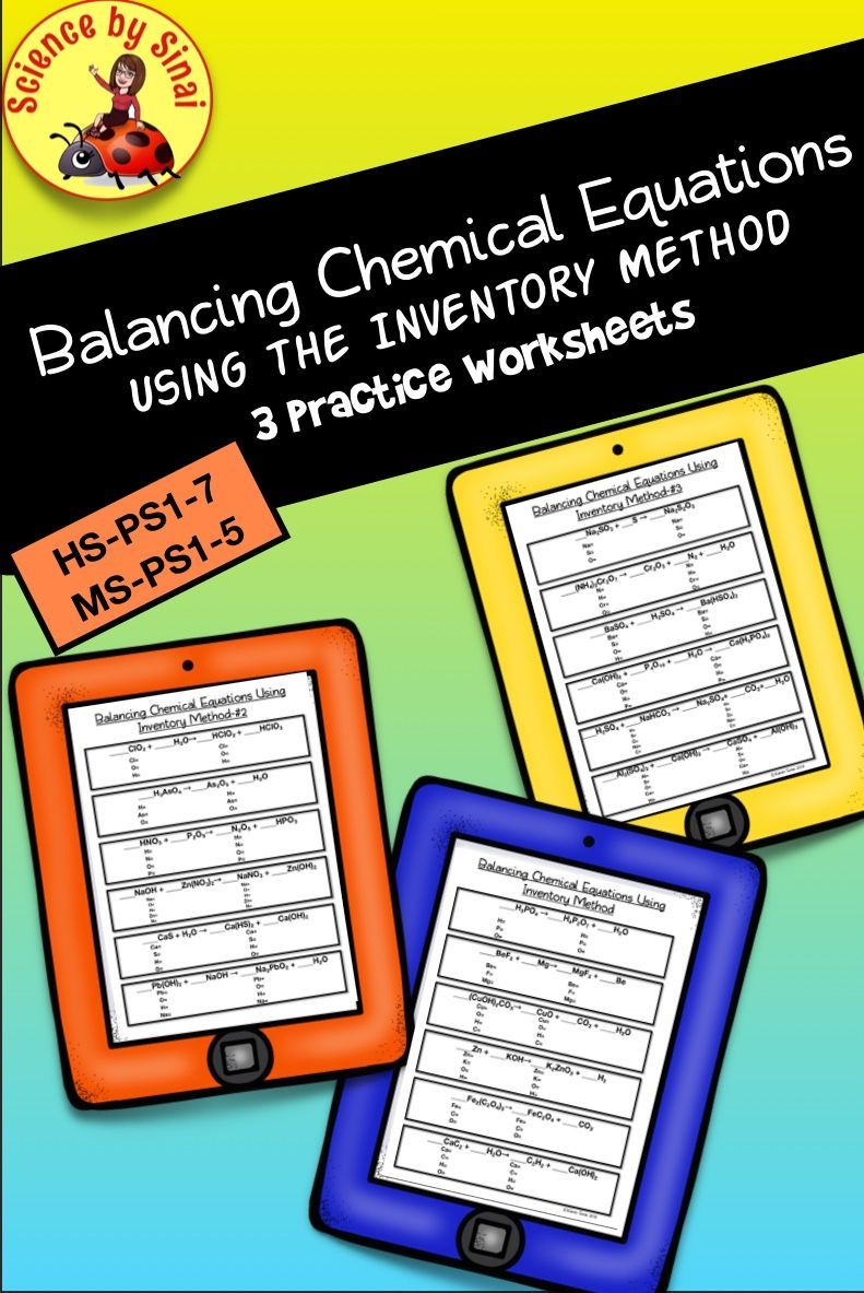 Here Are Three Practice Worksheets For Either Your Ms Ps1 5 Or Hs Ps1 7 Unit With Si Interactive Science Notebook Science Notebook Middle School Biology Notes