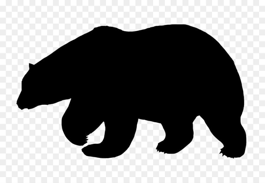 Polar Bear American Black Bear Silhouette Polar Bear Unlimited Download Kisspng Com Polar Bear Cartoon Bear Cartoon American Black Bear