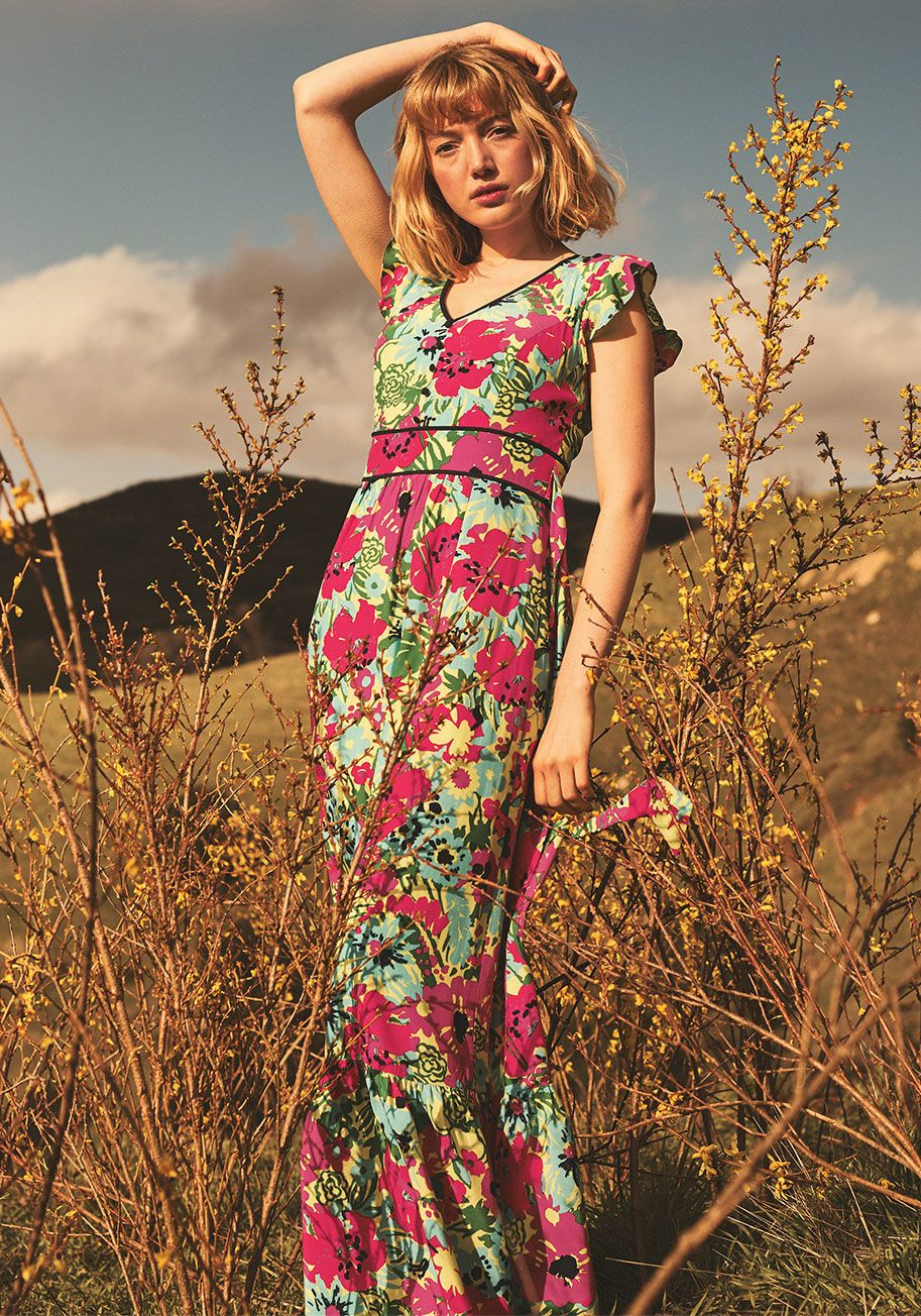 4162c233e4 Eyes On You Maxi Dress Green Floral