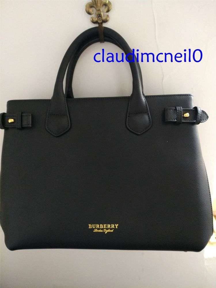 1fb3da92b705 Burberry Bag- The Medium Banner In Leather And House Check ...