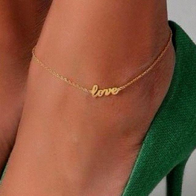 16 Cute Charm Bracelet Tattoos: Cute,I Love Ankle Bracelets!