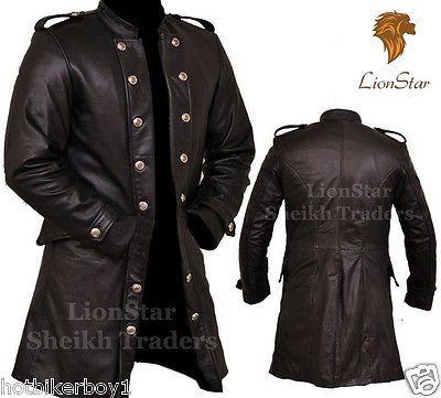 c18d00e8df2 Men's Real Leather Steampunk Gothic Matrix Black / Victorian Long ...