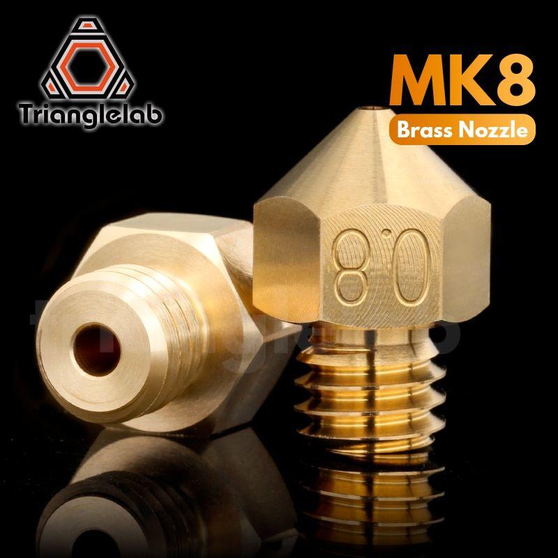 Trianglelab Top Quality Brass Mk8 Nozzle For 3d Printers Hotend 1 75mm Filament J Head Cr10 Heat Block Ender3 Hotend M6 Thr In 2020 3d Printer 3d Printer Parts Nozzle