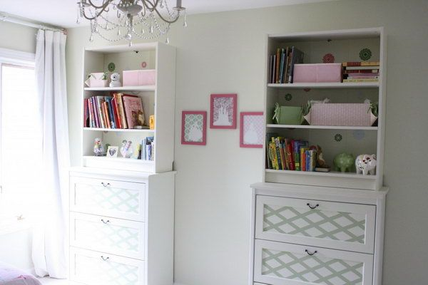 Place the BILLY bookcase on top of the chest of drawers