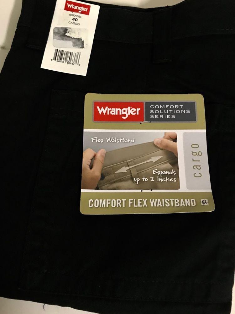 1359c4dc39 Wrangler men's Comfort Flex Waistband Cargo Short - Black Size 40 #fashion # clothing #shoes #accessories #mensclothing #shorts (ebay link)