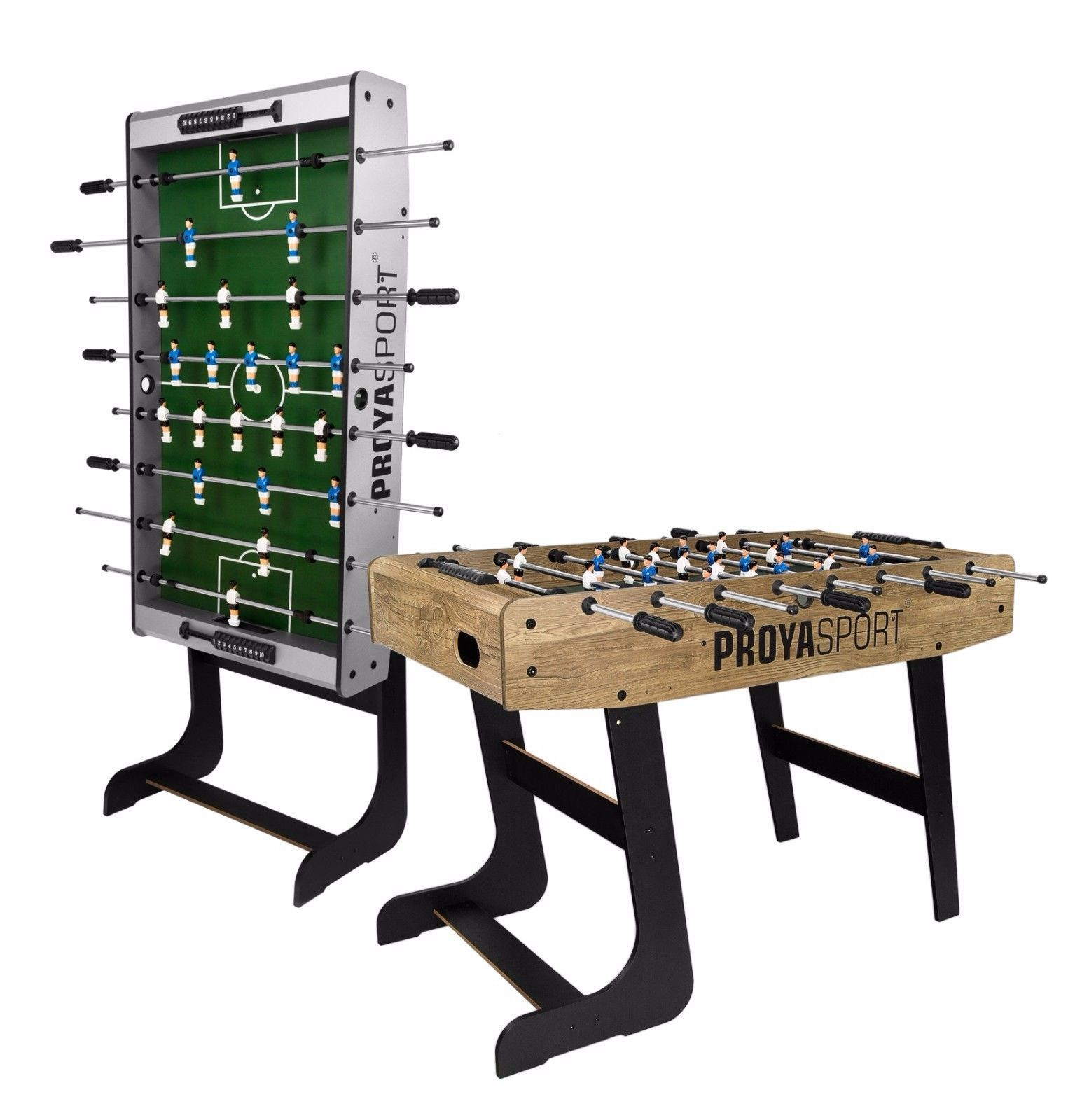 Football Table Folding Foosball Soccer Table ProyaSport S11 Wood Effect