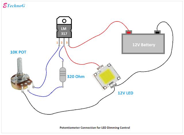 potentiometer connection  circuit diagram electronics mini