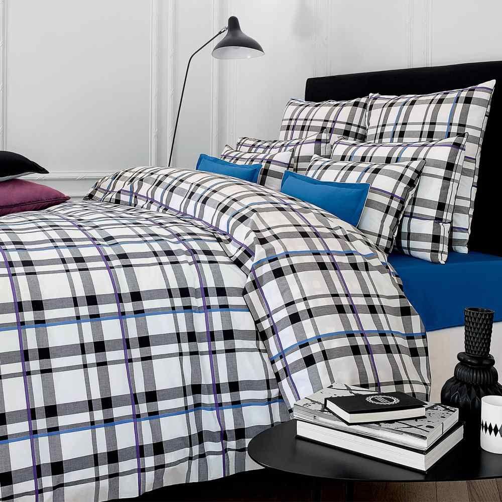 Linge de lit descamps amaury black white duvet covers for Linge de lit pour hotel de luxe