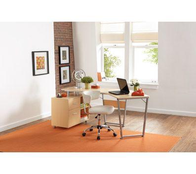 B Dog Leg Desk Oak, Dog Leg Desk