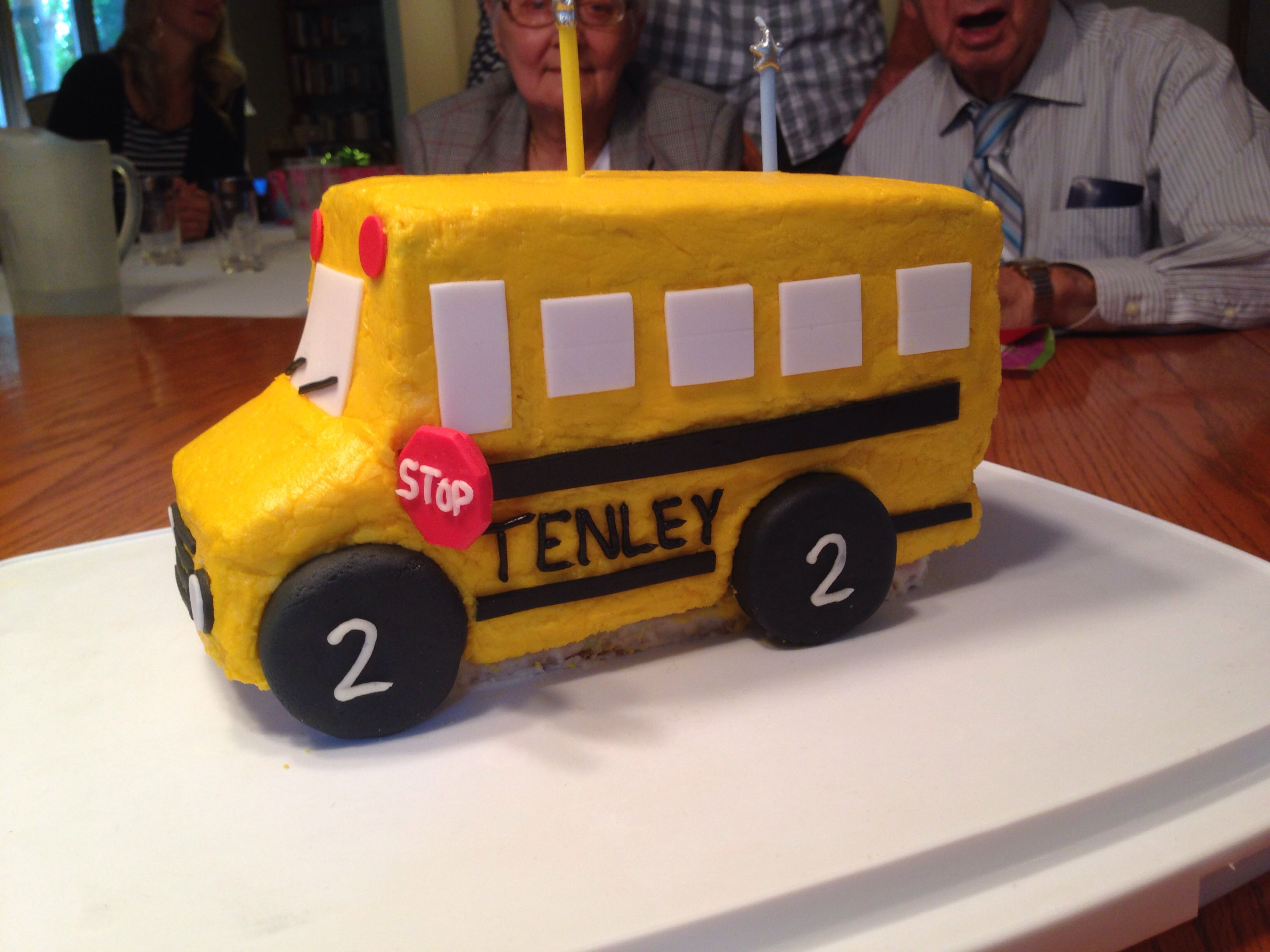 School Bus Birthday Cake For My 2 Year Old Niece Made By Her Aunt