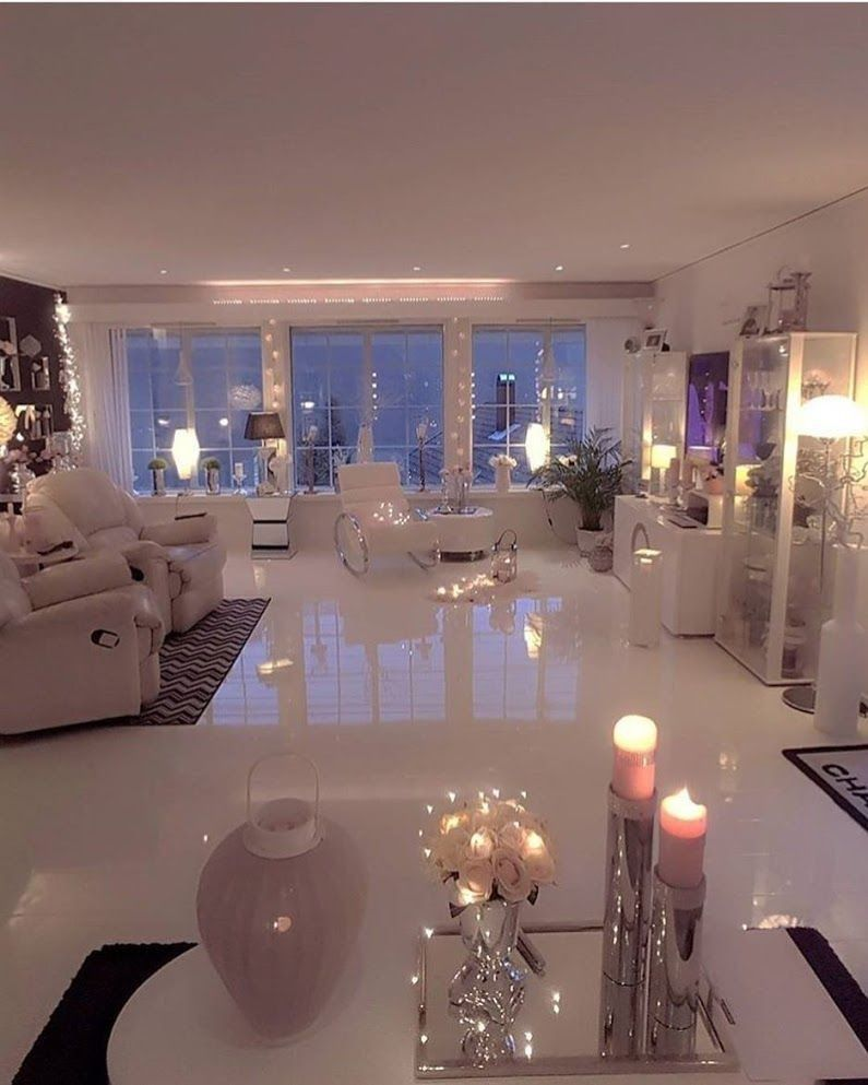 I Love How Chill Yet Elegant This Is From The Dim Light With Candles To The Airy Breezy Atmosphere I Neutral Living Room Home Living Room Dream House Rooms