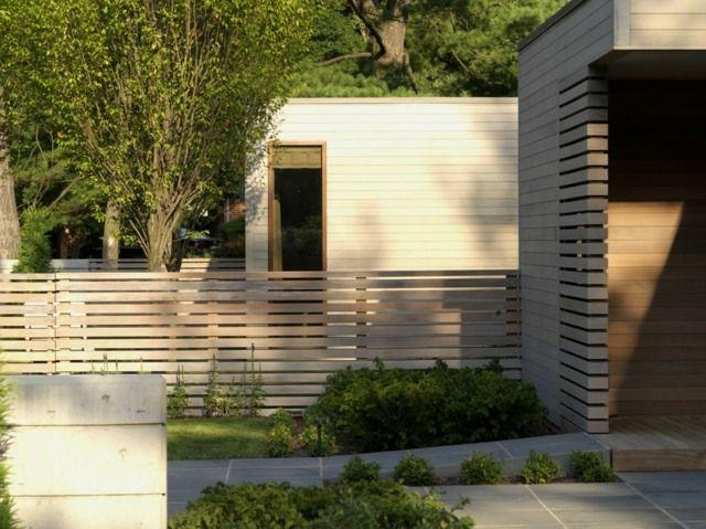 modernes Holzzaun verwittert graue Pattina Holz ölen Zaun - sichtschutzzaun aus kunststoff gute alternative holzzaun