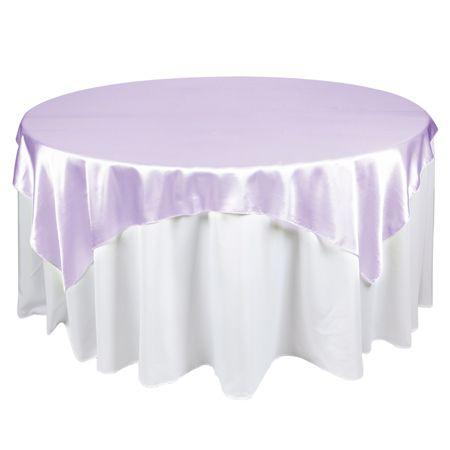 60 x 60 Satin Lavender Table Topper Overlay