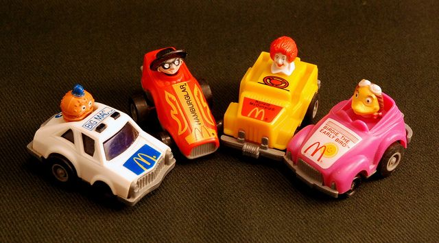 Early 1980s Happy Meal Toys Pullback Cars By Monkey River Town Via Flickr