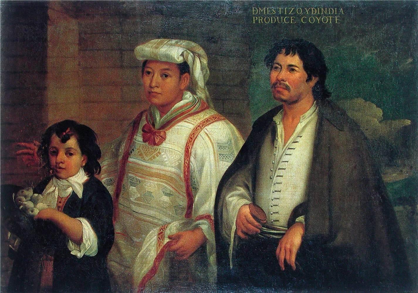 spanish paintings Mestizo