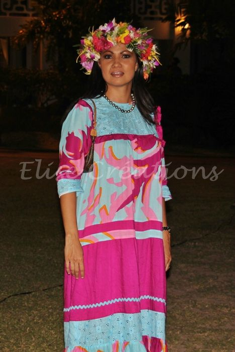 Robe mama ruau - Elise Creations - Tahiti | Robe tahitienne, Idées de mode, Robes hawaïennes