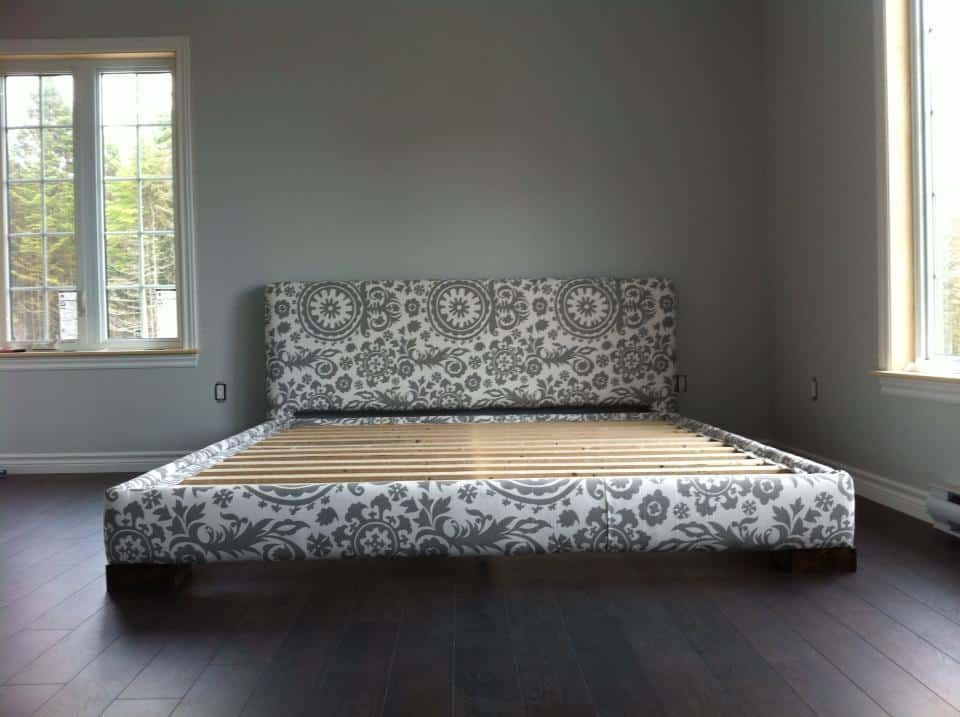 diy upholstered king bed frame