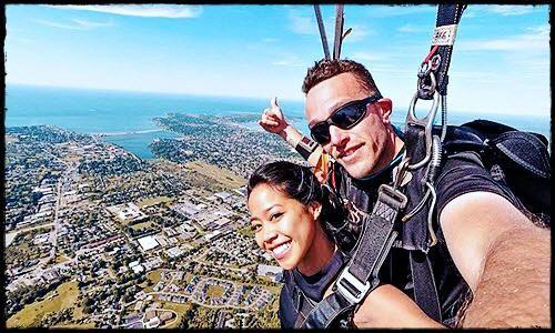 The Feeling Of Tandem Skydiving | Rayban wayfarer, Mens ...