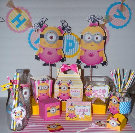 Girl Minion Birthday Party