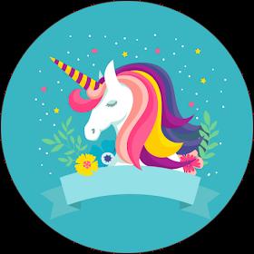 Fiestas Personalizadas Imprimibles Topper De Unicornios Para Descargar Gratis Unicorn Pictures Cute Little Drawings Unicorn Stickers