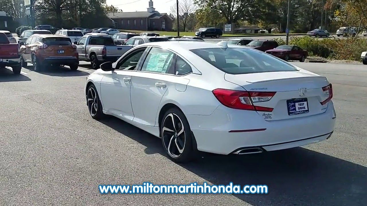 NEW 2018 Honda ACCORD SPORT CVT at Milton Martin Honda NEW