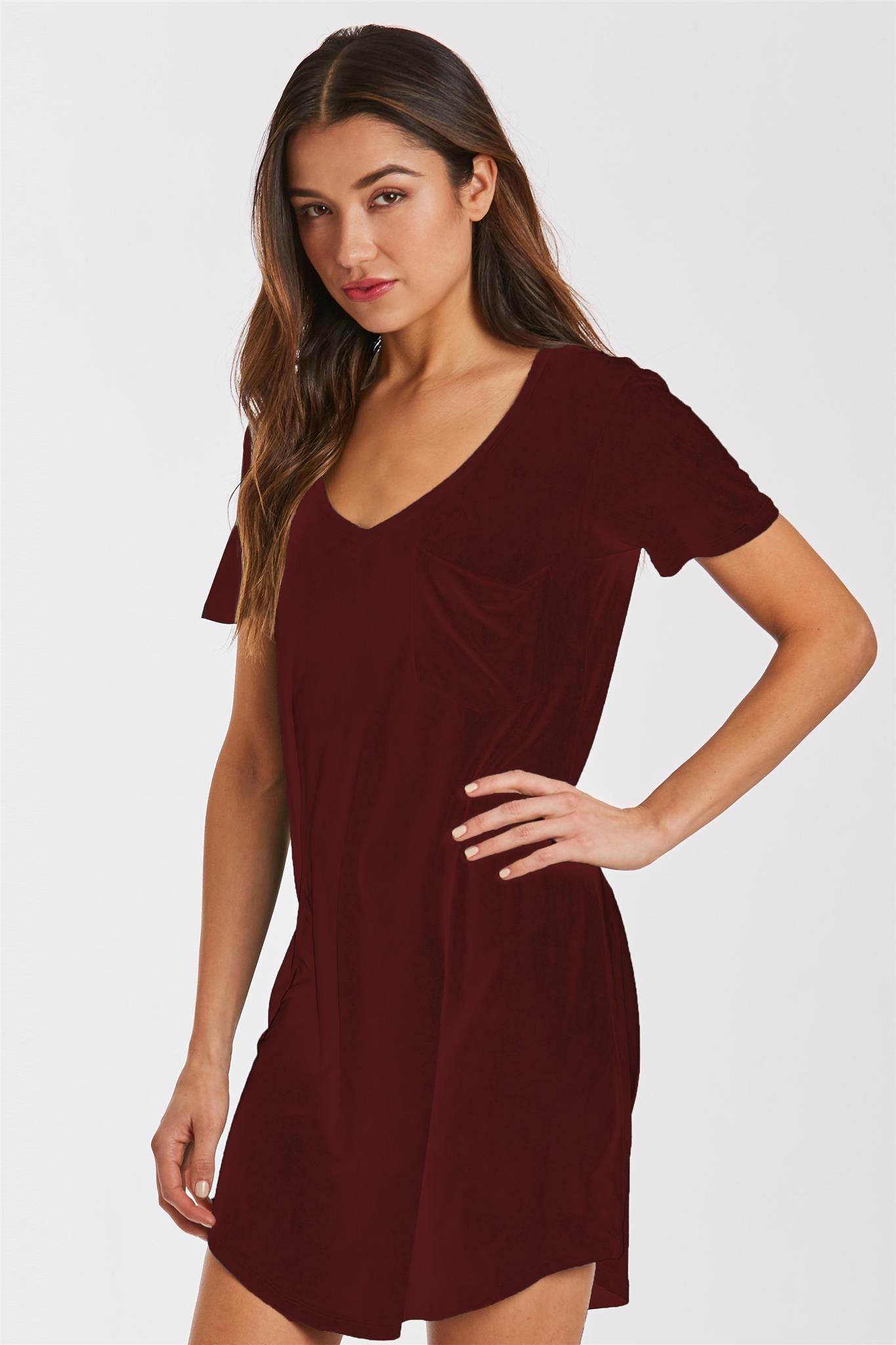 74ac66fca4c8 Cassidy suede tshirt dress burgundy | Products | Dresses, T shirt ...
