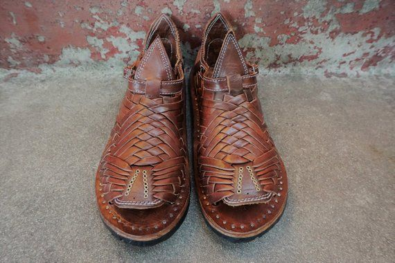 33082495d71a This SIETE VUELTAS BROWN style mexican sandals men s huaraches mexicanos  authentic leather cuero autentico handmade is