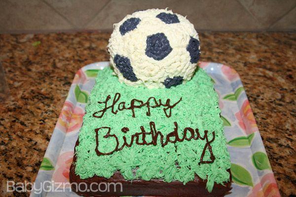 The Birthday Cake No Cake Recipe Soccer cake Cake and Cake birthday