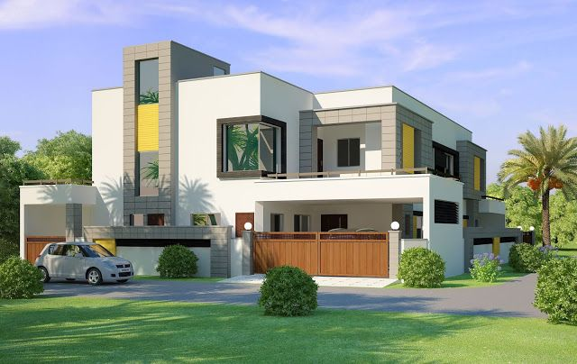 indian house design front view | house elevations | Pinterest ...