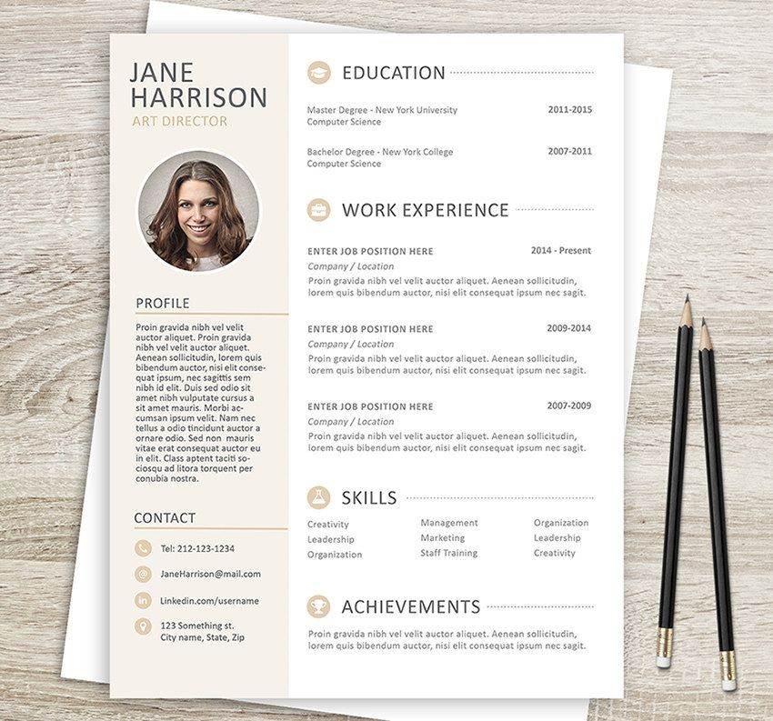 Lettre De Motivation Template: Resume Template With Matching Cover Letter And Reference
