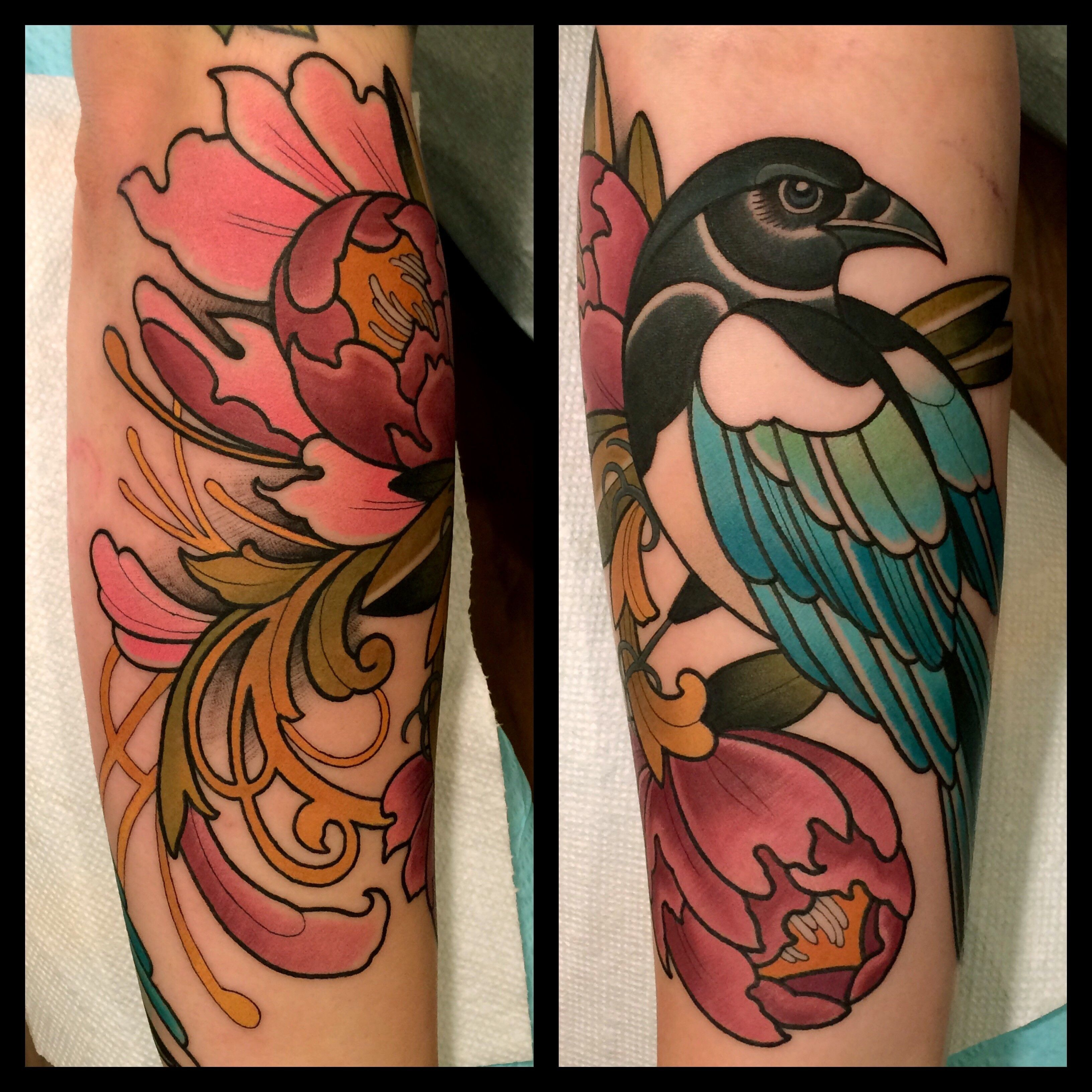 magpie tattoo by tattoo artist dave wah at stay humble tattoo ...