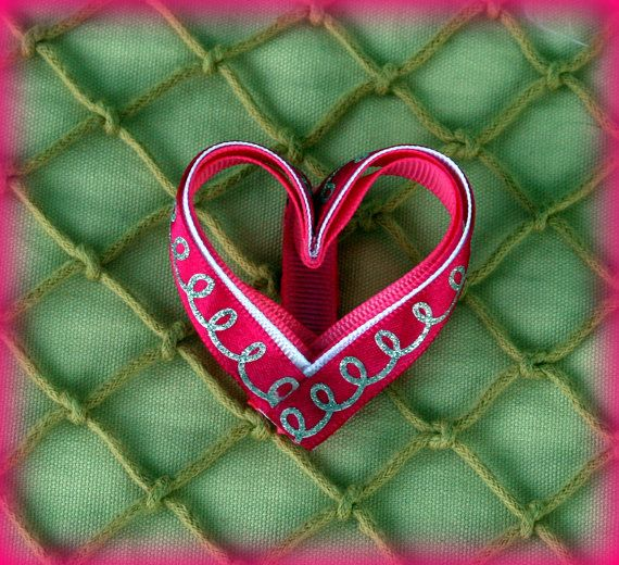 Heart Shaped Sculpted Valentine Hair Clip by sotweetbowtique, $4.00