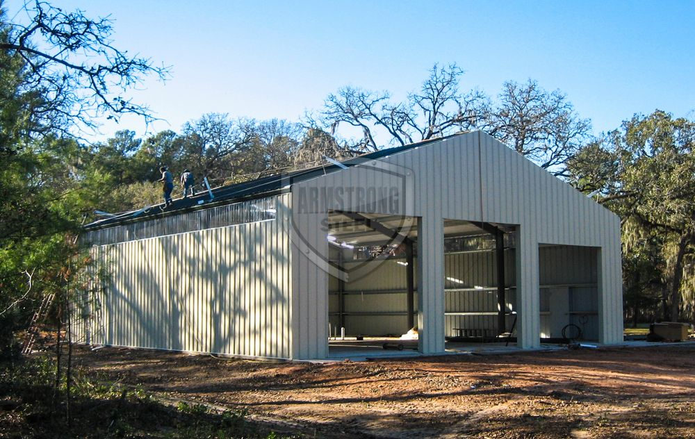 50x60 Texas Steel Building Photos | Armstrong Steel Buildings .