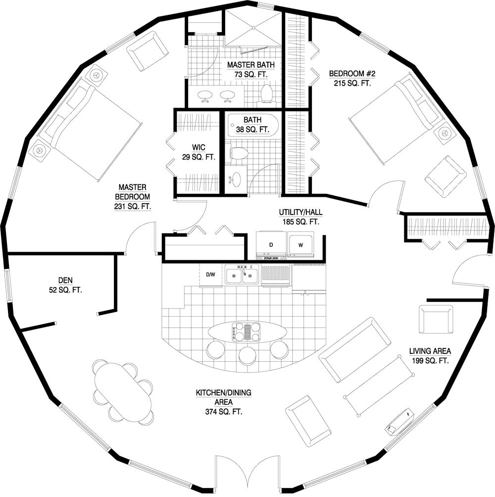 Floorplan Gallery Round Floorplans Custom Floorplans Yurt Floor Plans Round House Plans