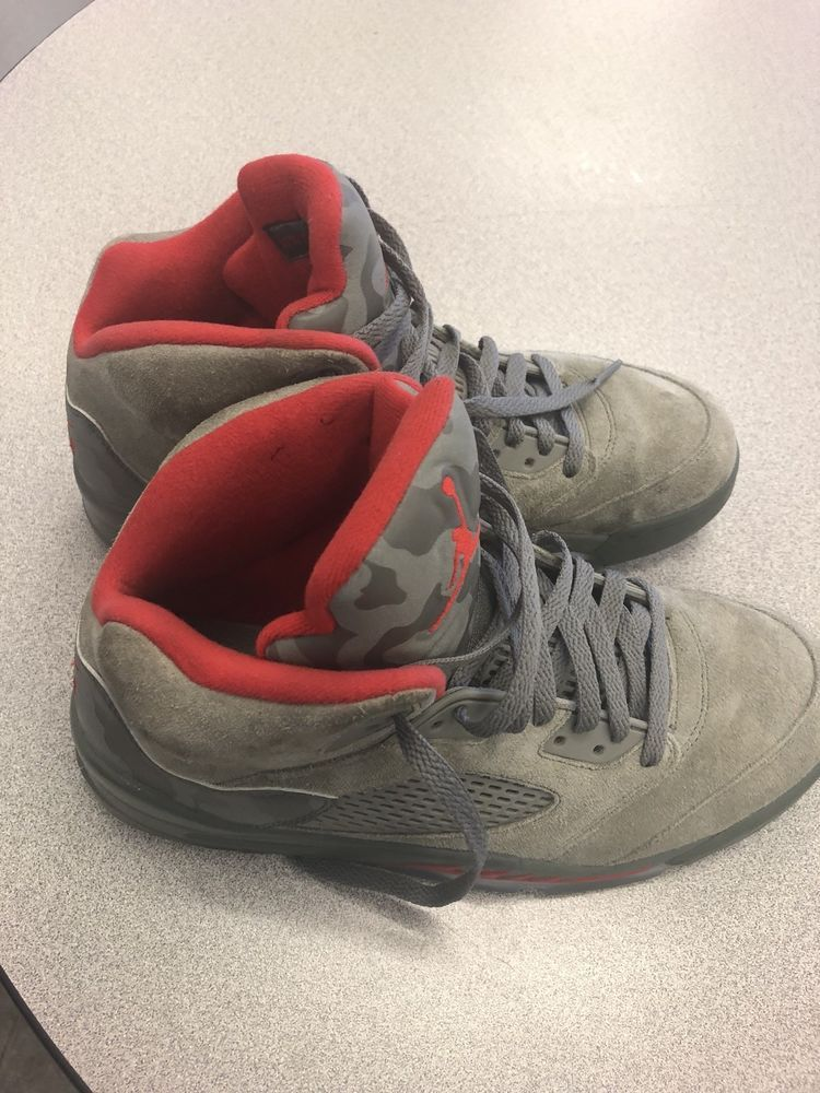 timeless design bbd13 a0fa3 Nike Air Jordan Retro 5 V Camo Men s Size 9 136027-051 Dark Stucco Fire Red   fashion  clothing  shoes  accessories  mensshoes  athleticshoes (ebay link)