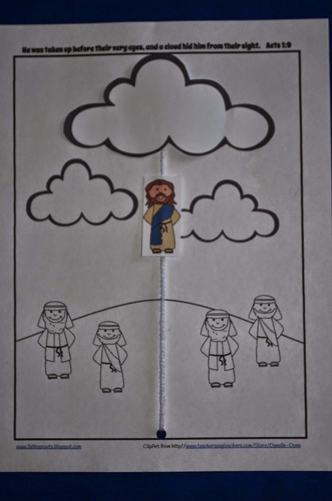 Jesus Ascends Into Heaven In A Cloud Scripture Ideas border=