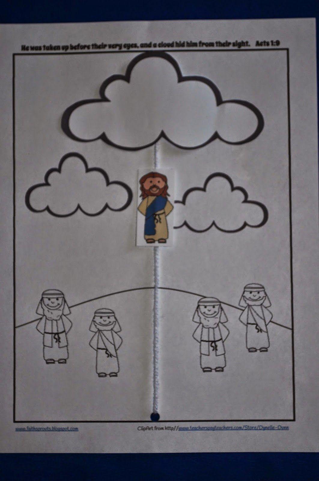 Jesus Ascends Into Heaven In A Cloud