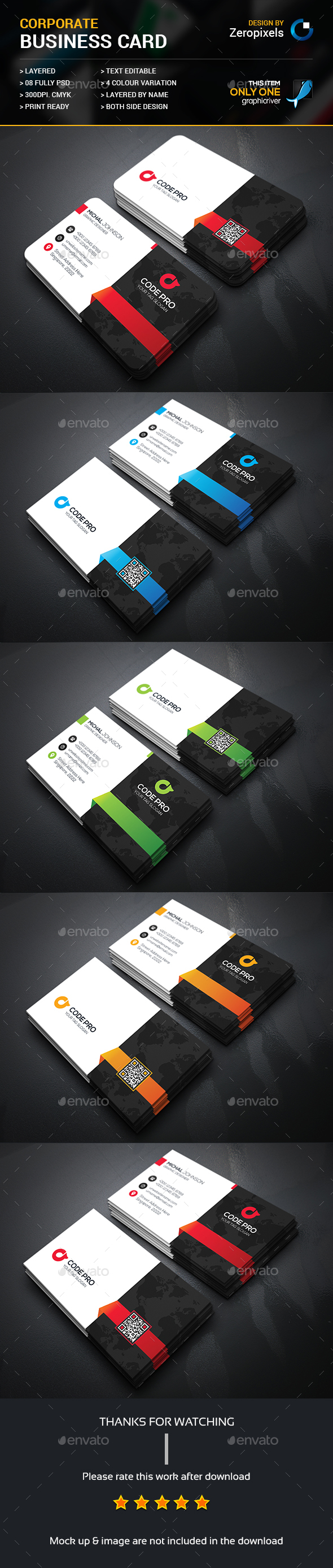 Corporate Business Card Template Psd Download Here Http