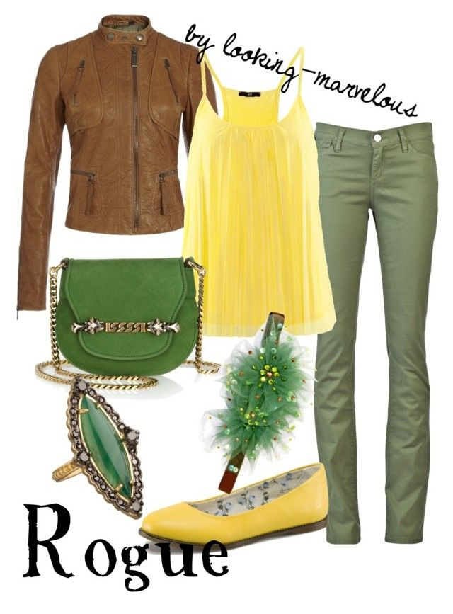 rogue by marvel-ous on Polyvore featuring polyvore fashion style Hu0026M Just Cavalli Goldsign Dr  sc 1 st  Pinterest & rogue | Rogues Tarina tarantino and Motorcycle jackets