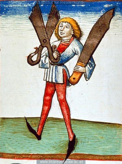 Schneider (Tailor)   Dieses Bild: 006748     1479 ; 1479 ; Wien ; Österreich ; Wien ; Österreichische Nationalbibliothek ; cod. 3049 ; fol. 129r