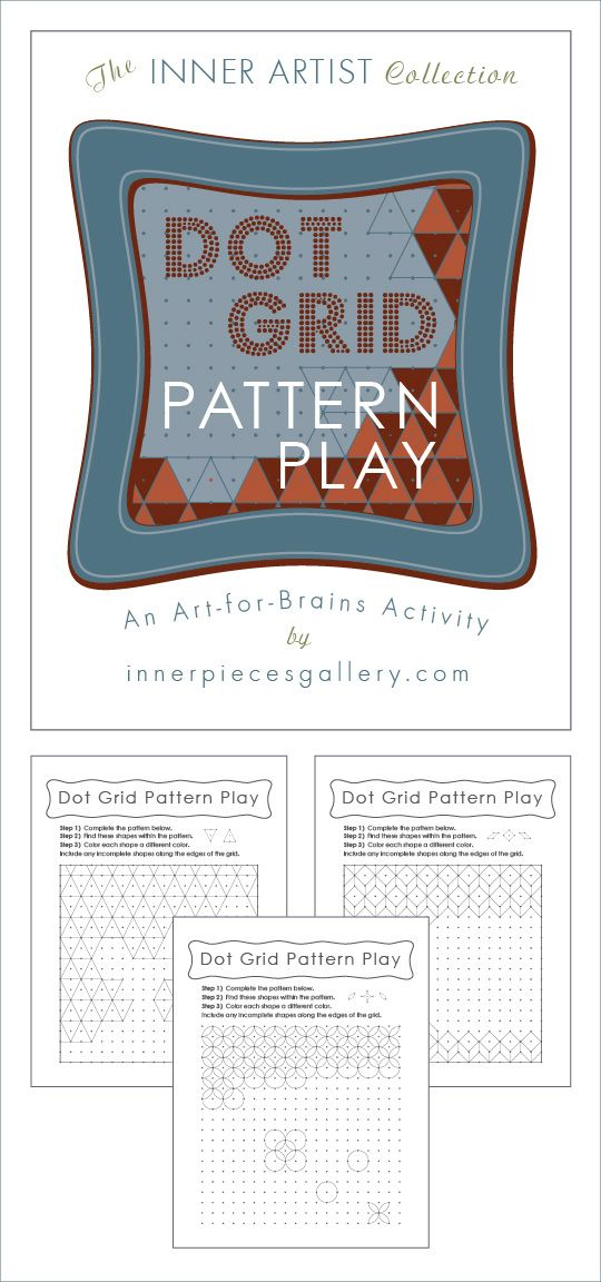 Dot Grid Pattern Play, An Art-for-Brains Activity that helps kids ...