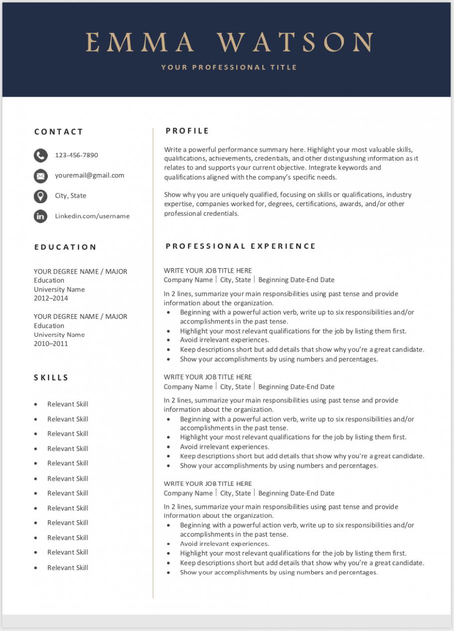 Cv Template Editable Resume template word, Editable
